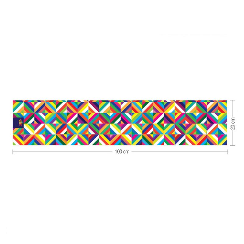 韓國製造微纖維毛巾 (100cm × 20cm) - 彩格黃