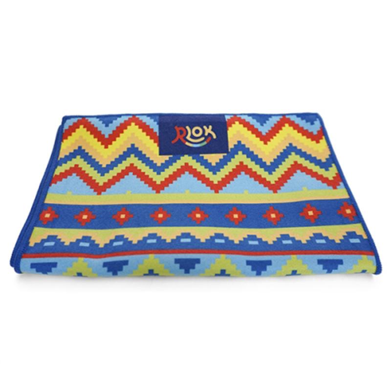 韓國製造微纖維毛巾 (100cm × 20cm) - 民族藍