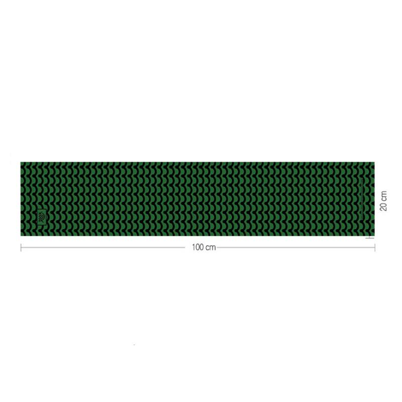 韓國製造微纖維毛巾 (100cm × 20cm) - 波紋綠