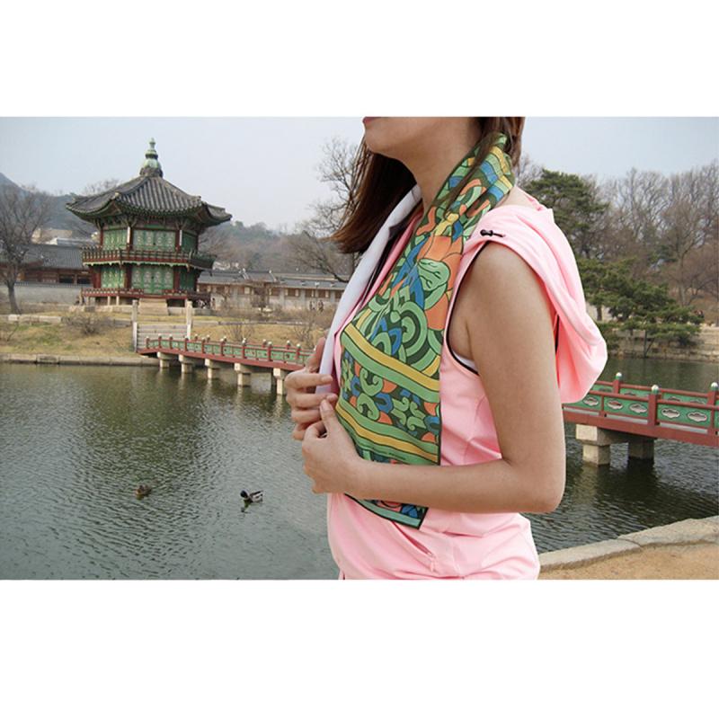 韓國製造微纖維毛巾 (100cm × 20cm) - 丹青綠