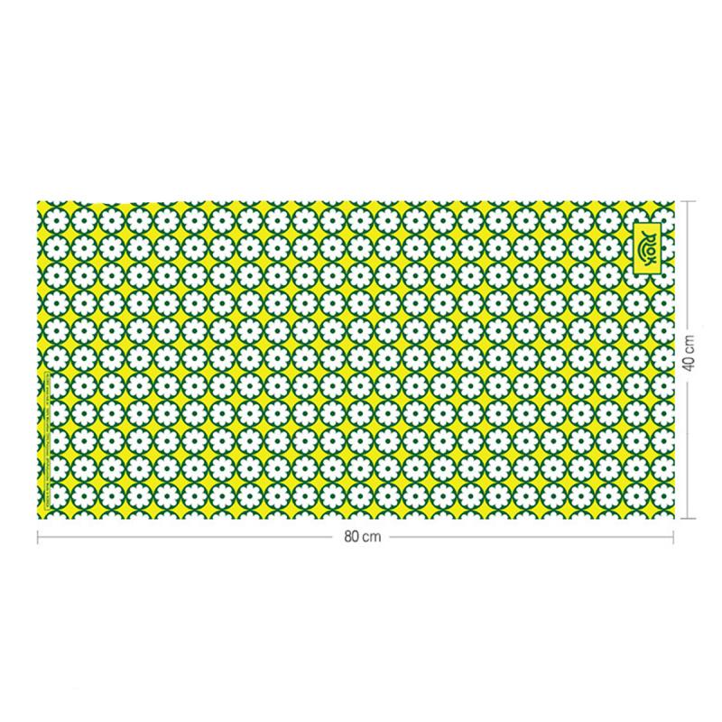 韓國製造微纖維毛巾 (80cm × 40cm) - 碎花綠