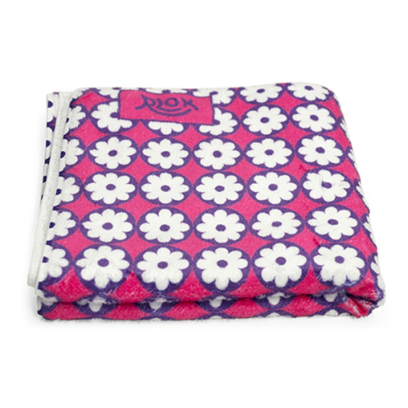 韓國製造微纖維毛巾 (80cm × 40cm) - 碎花粉紅