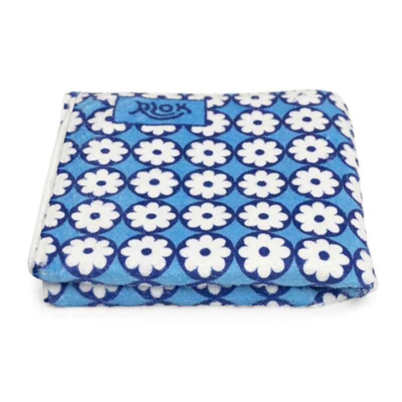 韓國製造微纖維毛巾 (80cm × 40cm) - 碎花藍
