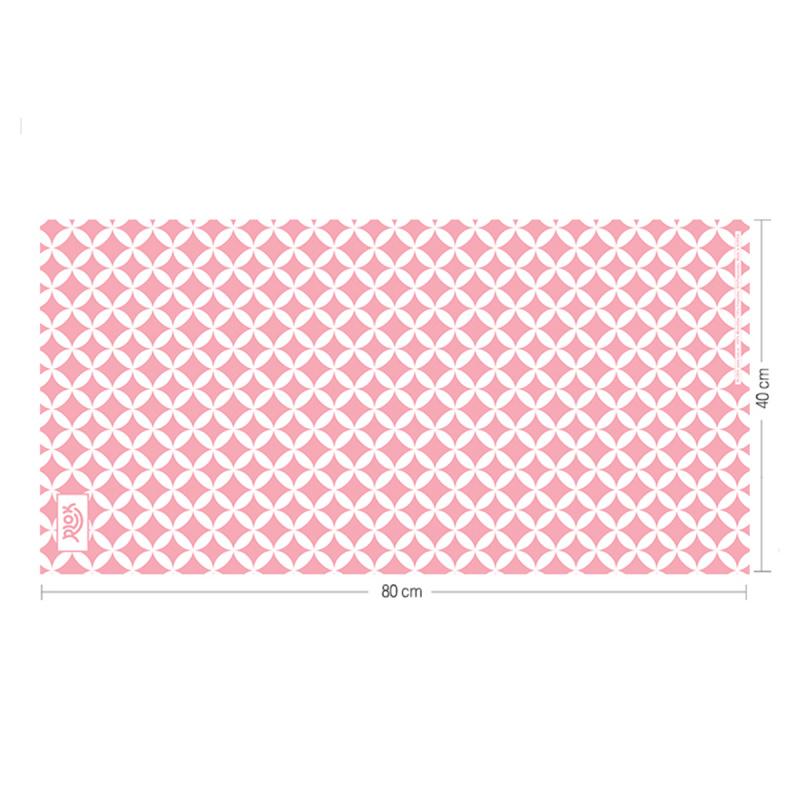 韓國製造微纖維毛巾 (80cm × 40cm) - 亮星粉紅