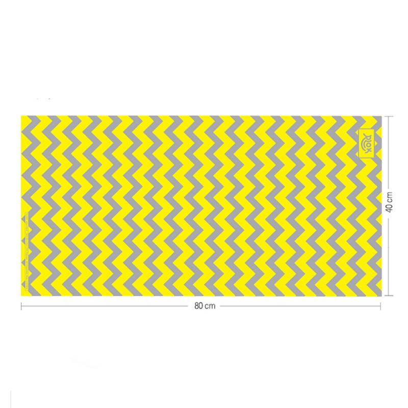 韓國製造微纖維毛巾 (80cm × 40cm) - 鋸齒黃