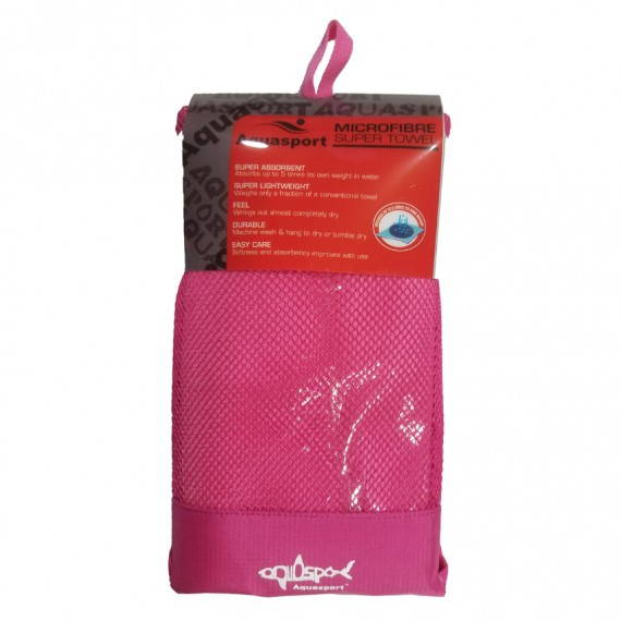 超細纖細吸水毛巾 (80×160cm) - 粉紅