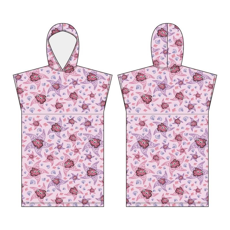兒童披肩微纖維吸水毛巾 - 粉紅