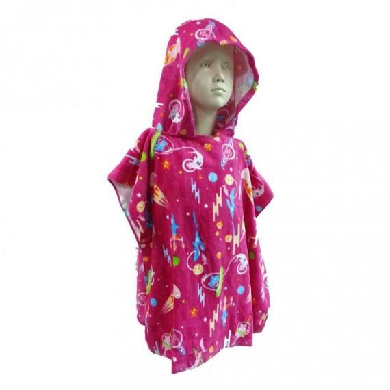 兒童披風毛巾 - 粉紅