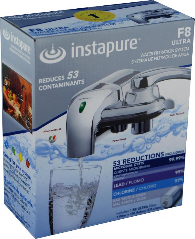 Instapure F8 Ultra Chrome 水龍頭過濾系統 Faucet Filter System
