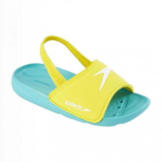 幼童海洋Q隊防滑鞋 - 湖水綠/黃