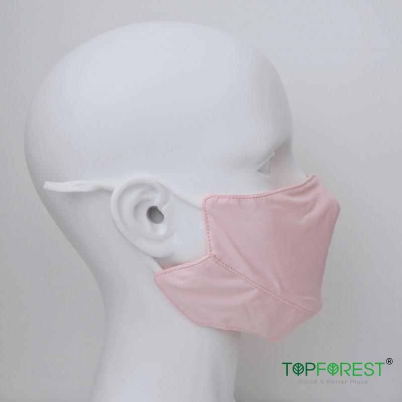 3D瘦面抗UV防曬UPF50戶外冰絲感舒爽輕薄透氣口罩(粉紅色1個) 延長口罩壽命/易洗快乾 M16020