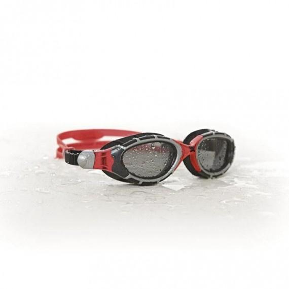 成人捕獵者型寳麗來感光泳鏡 - 紅/黑