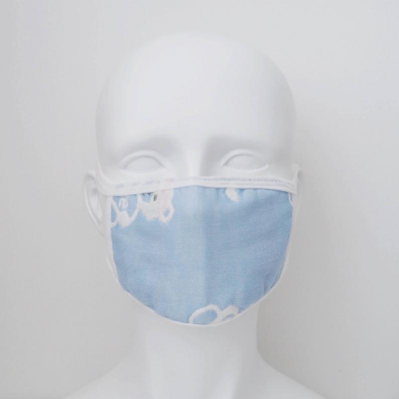 六層紗布中童粉藍色口罩1個日常替換裝 顏色圖案隨機 *沒有內置功能 *沒有鼻樑調節 M13020