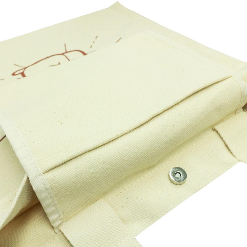 原色手挽側孭兩用帆布袋 動物貓貓小癲噹 B01067