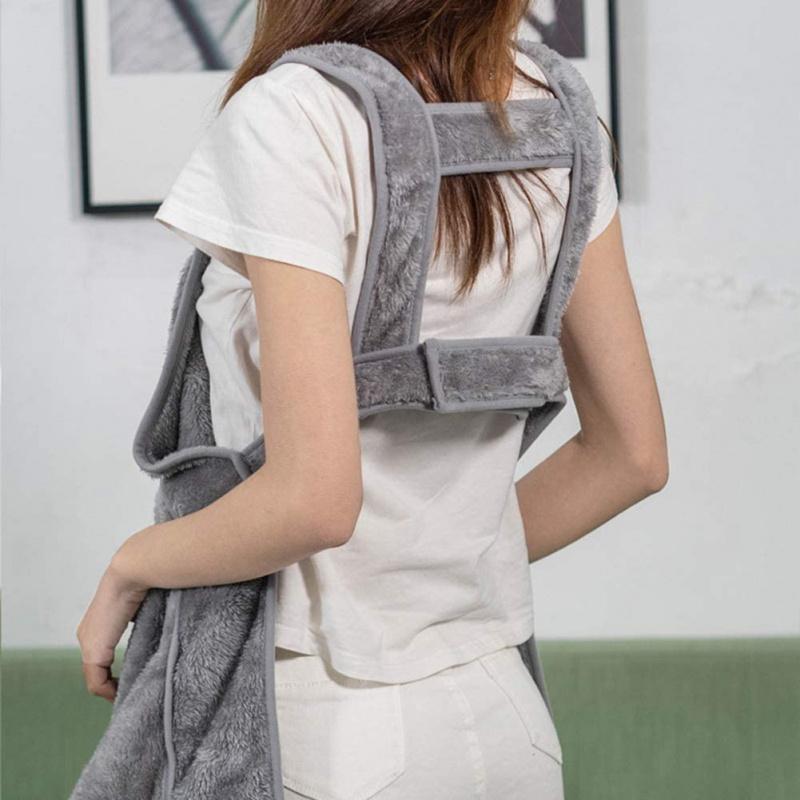 珊瑚絨貓咪袋鼠袋圍裙 灰色
