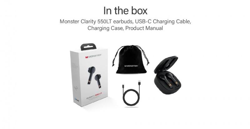Monster Clarity 550 LT 半入耳式真無線藍牙耳機🎶🎧
