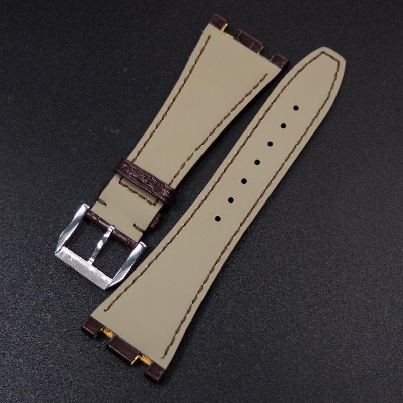 28mm 啡色鱷魚皮錶帶 適合 Audemars Piguet Royal Oak Offshore 42mm