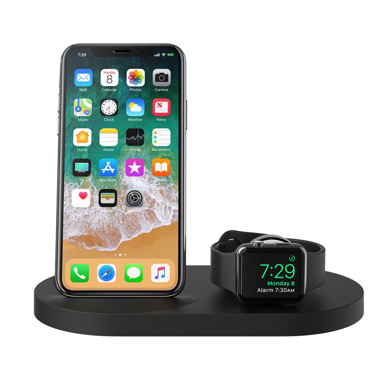 Belkin iPhone + Apple Watch + USB-A 連接埠專用的 BOOST↑UP™ 無線充電底座