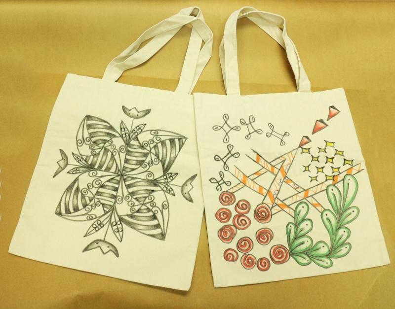 抗疫創意好玩 DIY 套裝 (2個帆布袋+1盒台灣知名品牌布料彩繪筆) 停課不停學
