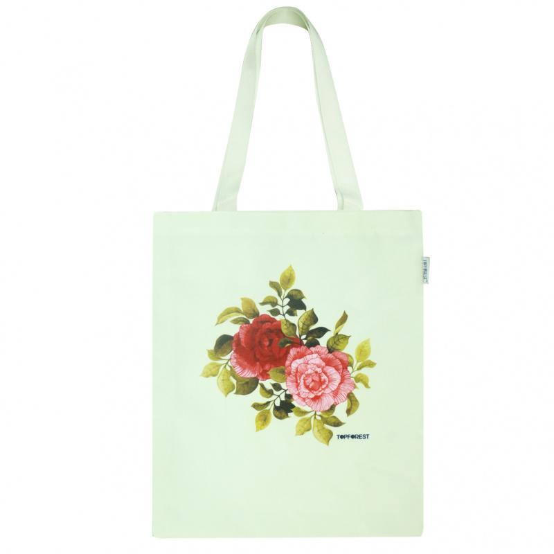 歐美風復古浪漫玫瑰花尼龍袋 B07049