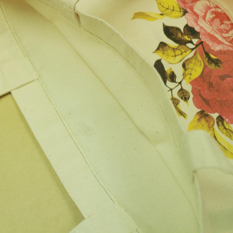 原色熱情玫瑰花圖案彩色帆布袋 B07039