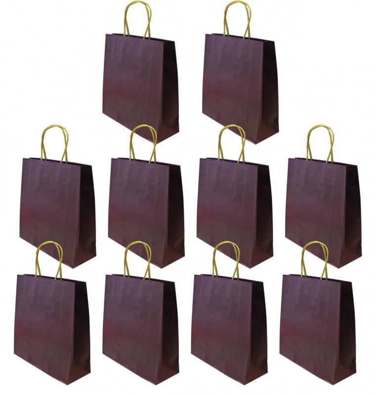 中秋節/ 月餅袋 / 冰皮月餅包裝 多用途紫色禮物小紙袋 10個特惠裝 SPB005