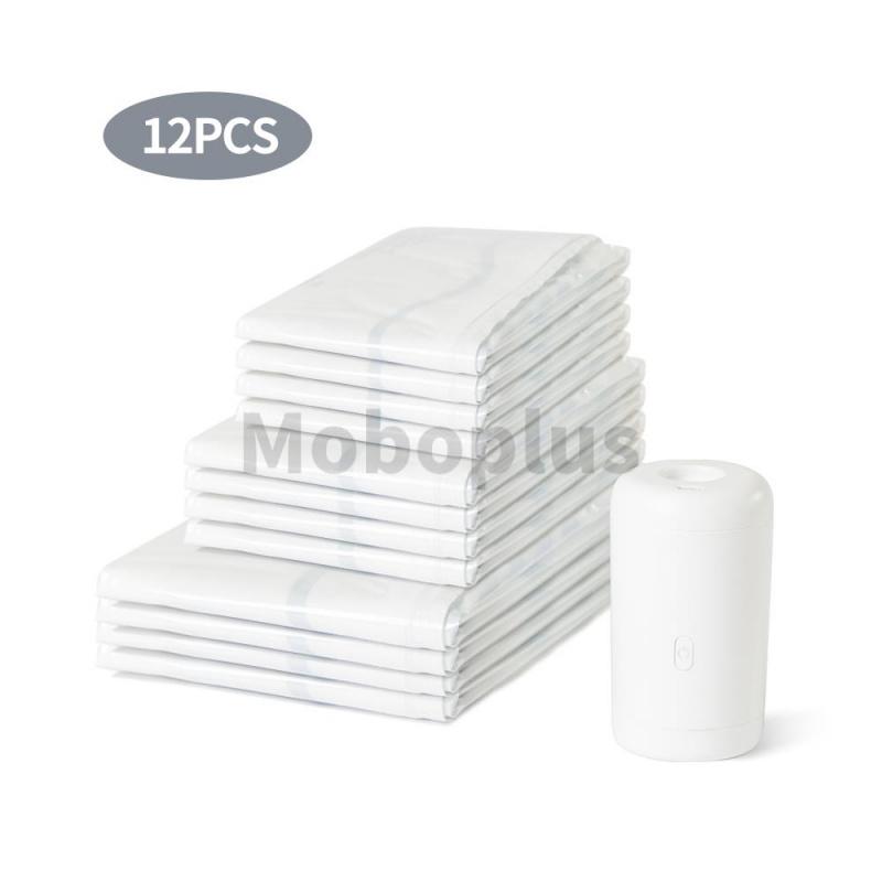 M-Plus 無線真空衣物收納套裝 (無線真空泵+12pcs收納袋)