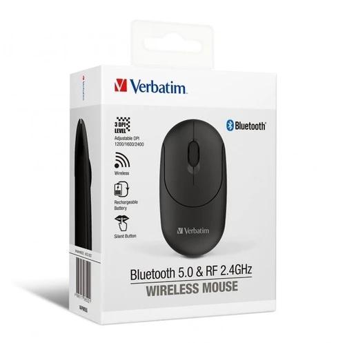 Verbatim 2.4Ghz 藍牙雙模式無線靜音滑鼠 [2色] [66522/66523]