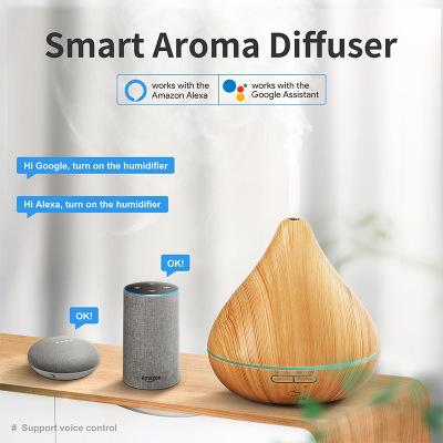M-Plus GX.Diffuser 智能WIFI加濕香薰機 全淺木紋 支持Alexa