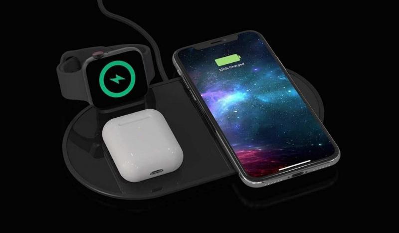 美國品牌Mophie 三合一無線充電板