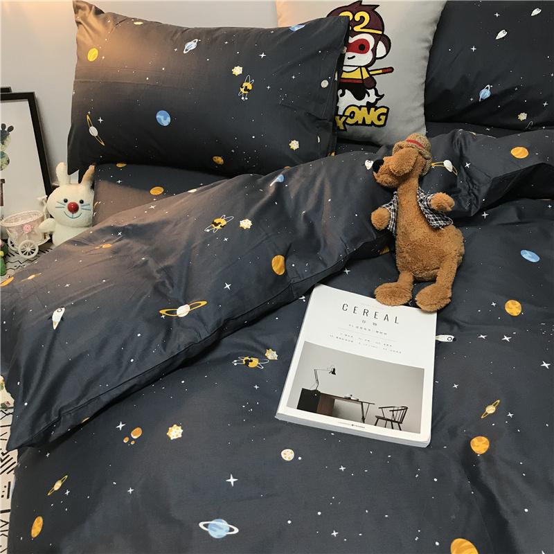 星空太空圖案床品套裝 (床單+被套+枕頭袋X2)