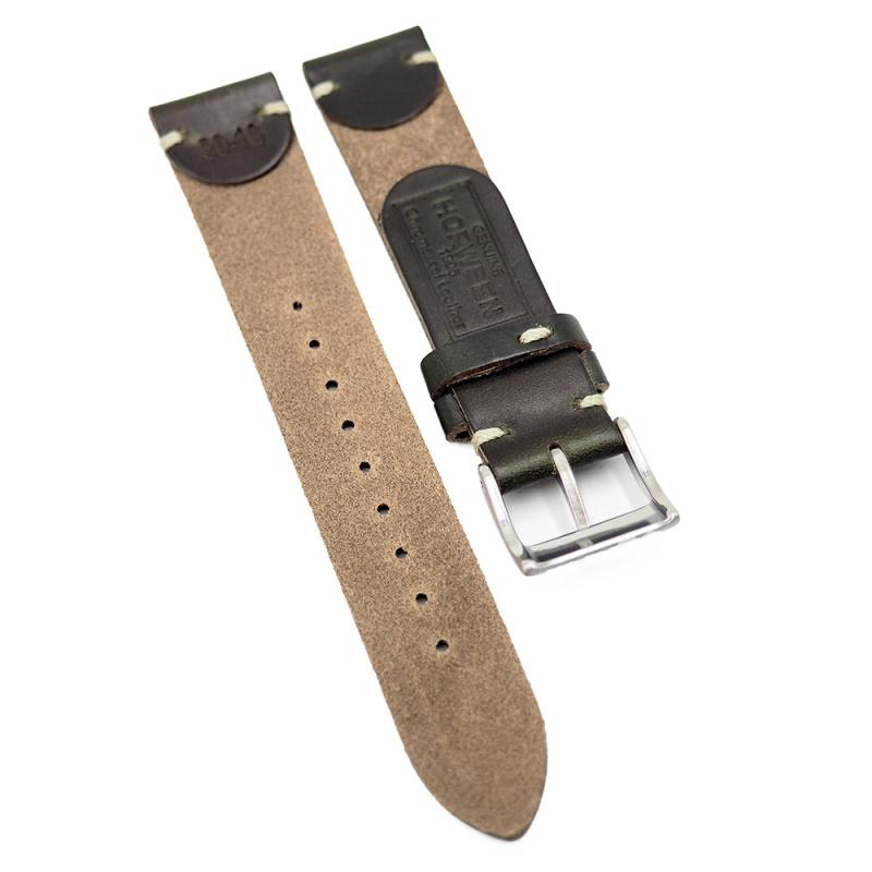 18mm, 20mm, 22mm 優質綠色 Horween 牛皮復古錶帶