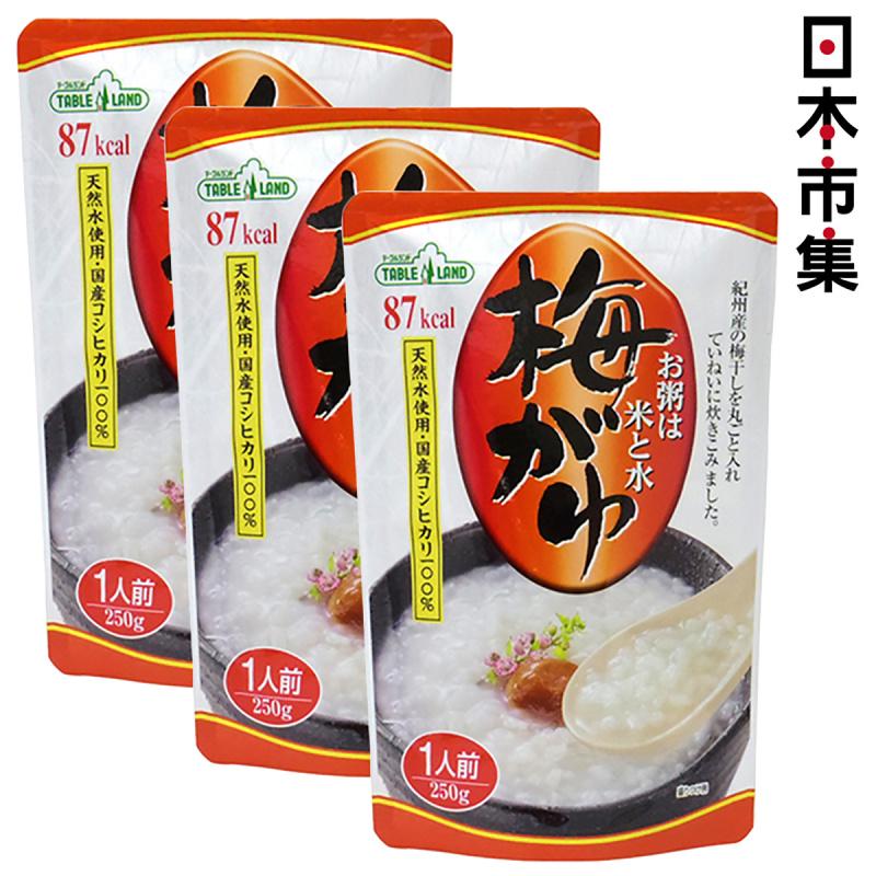 日本 丸善 越光米低卡 梅子味 即食粥 250g (3件裝)【市集世界 - 日本市集】