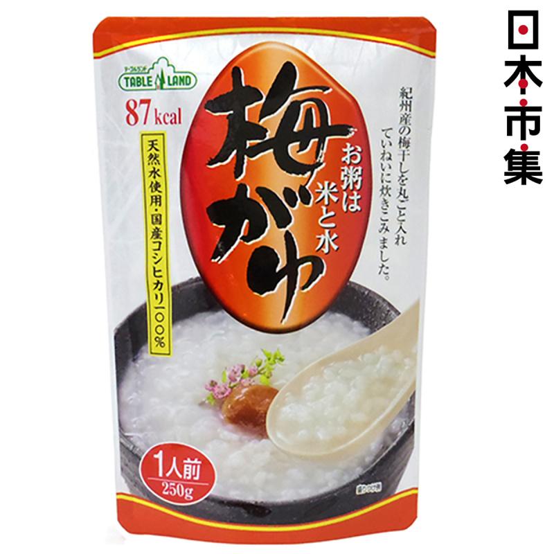 日本 丸善 越光米低卡 梅子味 即食粥 250g【市集世界 - 日本市集】