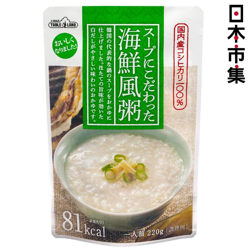 日本 丸善 越光米低卡 韓國海鮮 即食粥 220g【市集世界 - 日本市集】