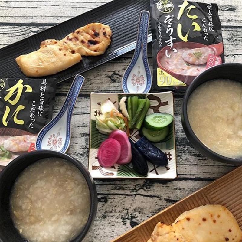 日本 丸善 豪華越光米低卡 濃香鯛魚蛋花 即食粥 250g 【市集世界 - 日本市集】