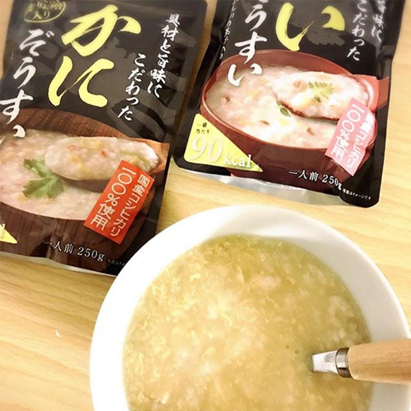 日本 丸善 豪華越光米低卡 蟹肉味噌蛋花 即食粥 250g【市集世界 - 日本市集】