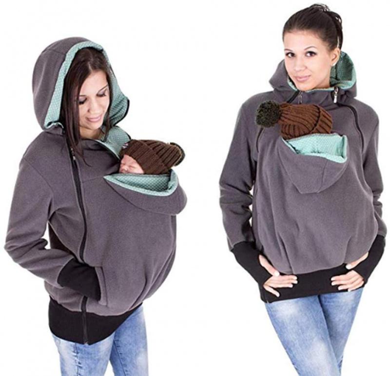 親子袋鼠嬰兒寶寶衛衣帶帽