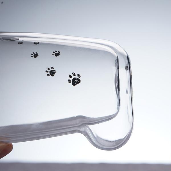 雙層玻璃貓腳杯