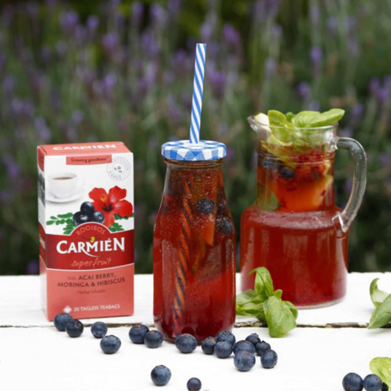 南非Carmién 巴西莓辣木葉大紅花 南非博士茶 綠茶 50g (20小包)【市集世界】