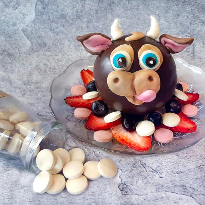 紐西蘭Moo Chews 無麩質 香滑雲呢拿 牛奶鈣片 (48粒樽裝)【市集世界 - 澳紐市集】