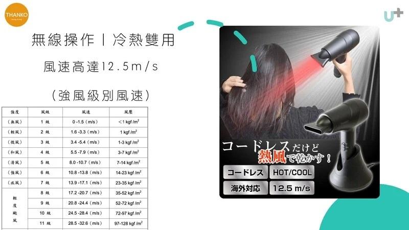 日本超人氣品牌 |😎 Thanko 隨行式無線冷暖風筒