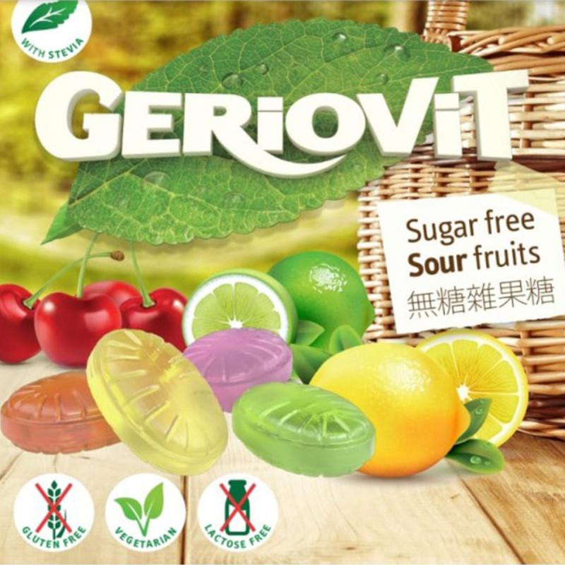 歐洲Gerio 無糖 雜果味硬糖 40g (2件裝)【市集世界】