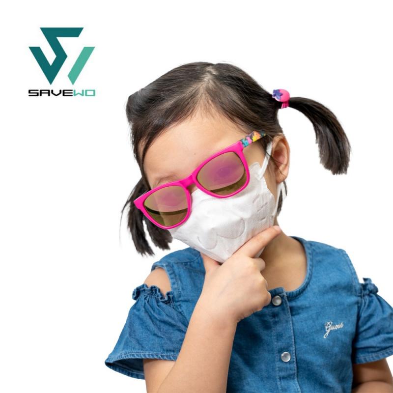 SAVEWO 3DMEOW FOR KIDS 救世立體喵 兒童防護口罩 (30片獨立包裝/盒) (14CM短耳帶,2-6歲適用)