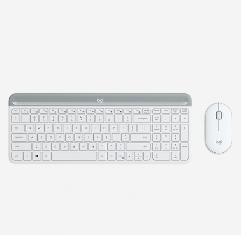 Logitech Slim 無線鍵盤與滑鼠組合 MK470 English - White