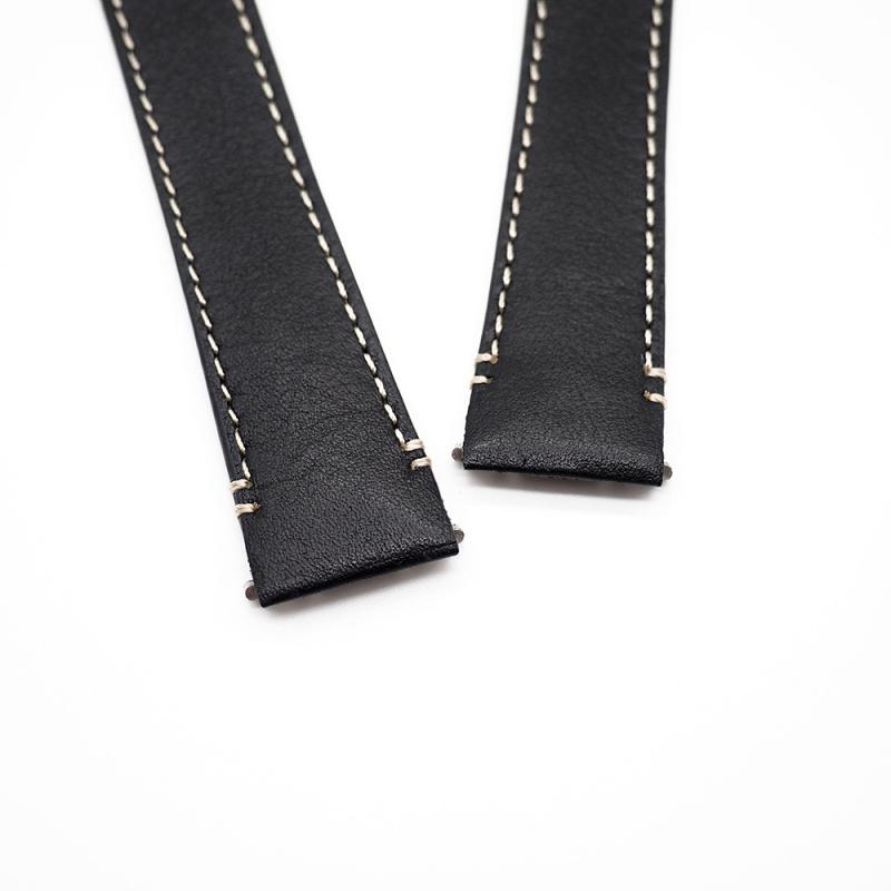 18mm 黑色優質牛皮 Cartier 代用快拆錶帶 合適 Cartier Santos Medium Model
