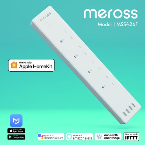 Meross Apple HomeKit 4位智能拖板 (13A) MSS426F