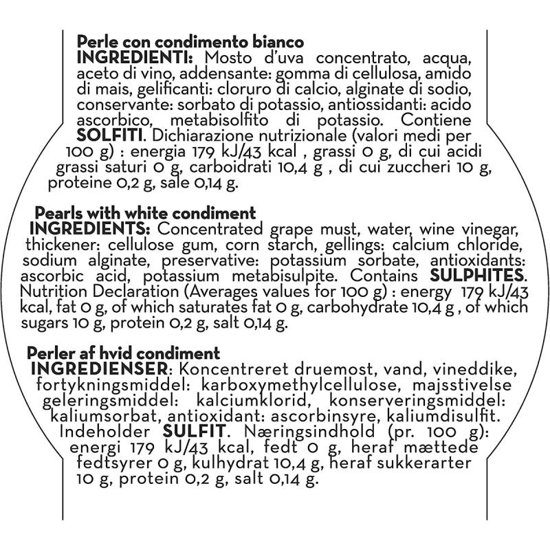 意大利Andrea Milano 摩德納白醋 白珍珠 50g【市集世界 - 意大利市集】
