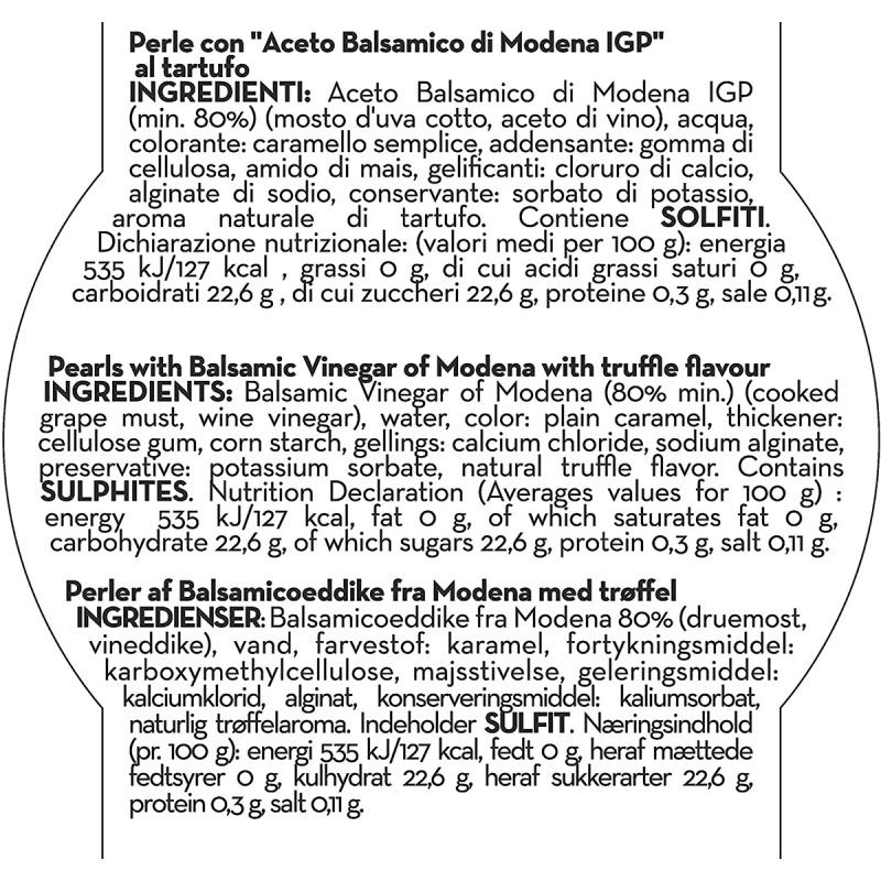 意大利Andrea Milano 摩德納黑醋 松露黑珍珠 50g【市集世界 - 意大利市集】