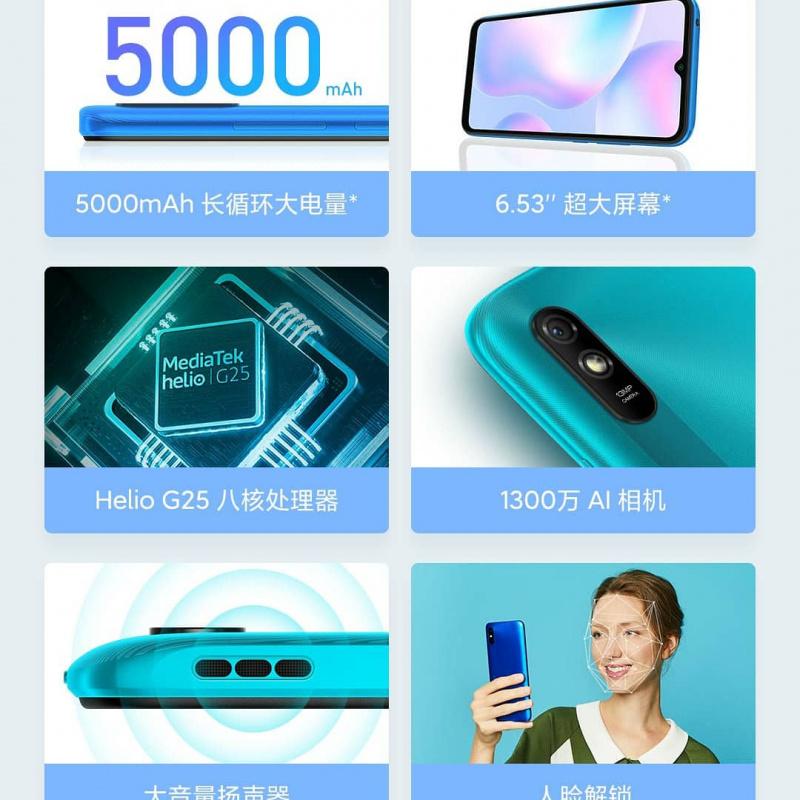 一千有找 全新全套紅米9A 三卡糟64GB容量Google中文版 $850
